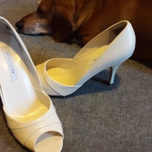 MARIPE CREAM LEATHER HEELS